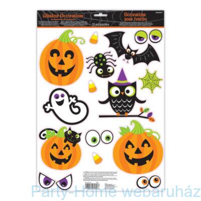 Kedves Halloween Figurák Ablak Dekoráció - 15 db-os