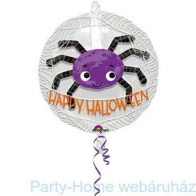 Happy Halloween Spider Ballon in a Ballon Fólia Lufi 60 cm-es