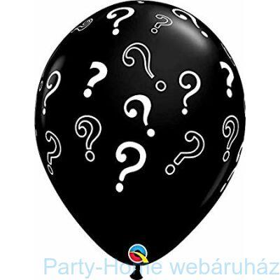 16 inch-es Question Marks Onyx Black Lufi 1 db.