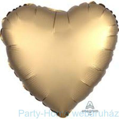 17 inch-es Chrome Gold Szív Fólia Lufi