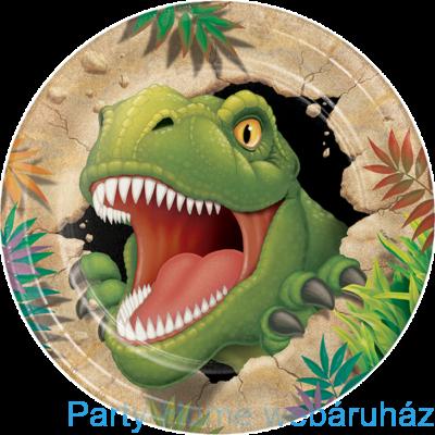 Dinoszaurusz parti tányér 23 cm 8db