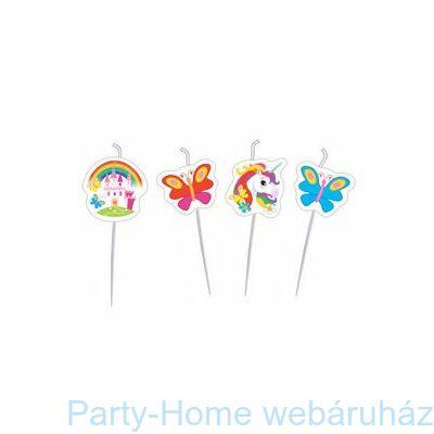 Unikornis - Unicorn Party Gyertya Szett - 4 db-os