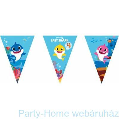 Baby Shark Party Zászlófüzér