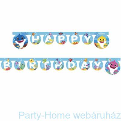 Baby Shark Party Happy Birthday Girland 2 méter