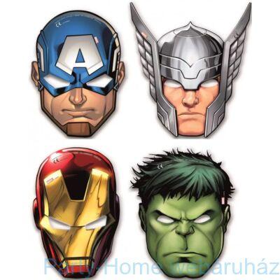 Avengers - Bosszúállók Parti Maszk 6 db-os