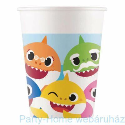 Baby Shark Papír Party Pohár - 8 db-os, 200 ml