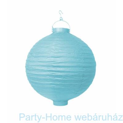 Kék Színű Világító Gömb Lampion - 20 cm