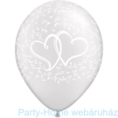 11 inch-es Entwined Hearts Pearl White Lufi