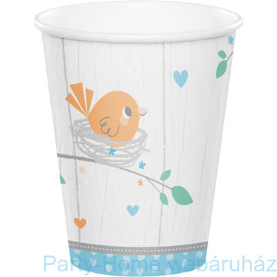 Hello Baby Boy Party Pohár - 256 ml, 8 db-os