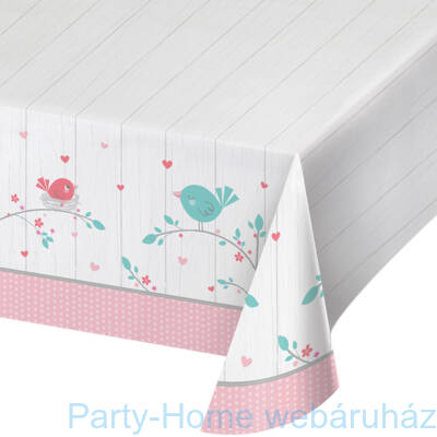 Hello Baby Girl Party Asztalterítő - 137 cm x 259 cm