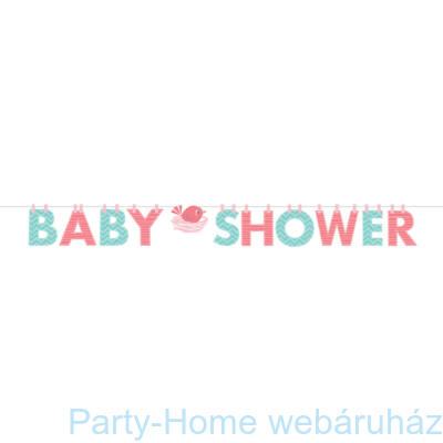 Hello Baby Girl Party Baby Shower Girland - 1,7 m