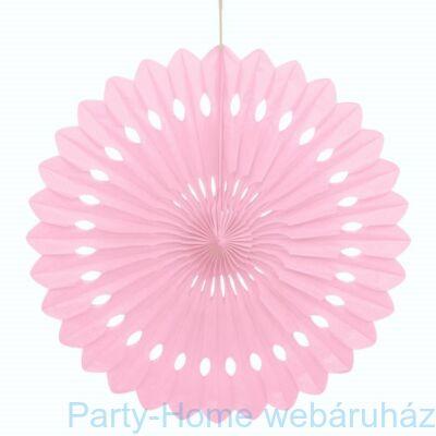 Halvány Rózsaszín Legyező Függő Dekoráció - 40 cm-es