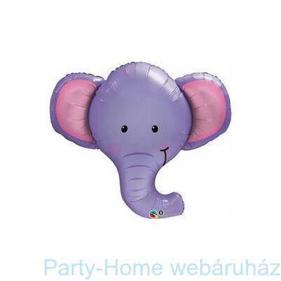Elefánt Fej Ellie the Elephant Fólia Lufi