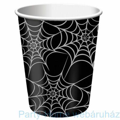 Fekete-ezüst pókhálós parti pohár