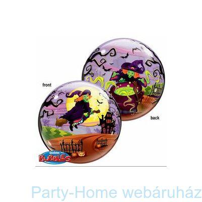 Flying Witch's Spooky Brew Boszorkány Seprűn Bubble Lufi Halloweenre