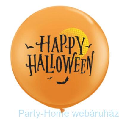 Hold és Denevérek Halloween Moon and Bats Orange Lufi