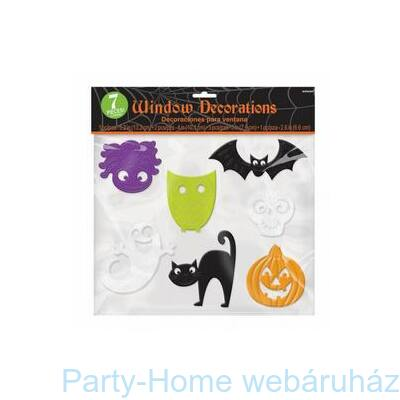 Halloween Mintázatú Ablakdekoráció