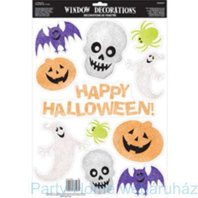 Halloween Figurák Glitteres Ablak Dekoráció