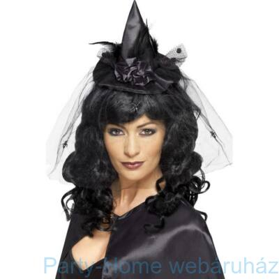 Fekete Mini Boszorkány Kalap Fejpánton