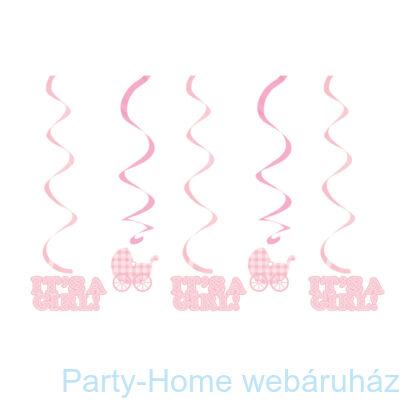 Baba születésre kislányos függő dekoráció