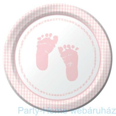 Baba születésre kislányos tányér