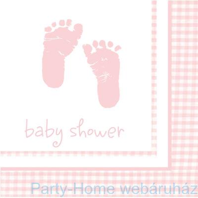 Baba születésre kislányos szalvéta