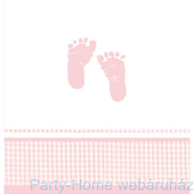 Baba születésre kislányos-asztalterítő