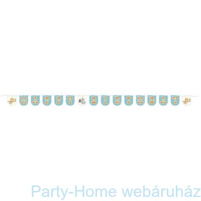 Mókás erdei állatok kék girland