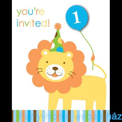 Happy 1. Birthday kisfiús meghívó