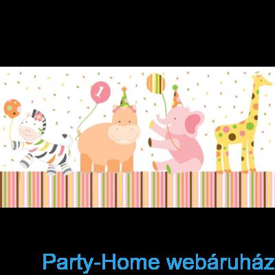 Happy 1. Birthday kislányos-asztalterítő
