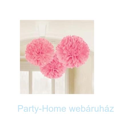 Rózsaszín Bolyhos Függő Dekoráció