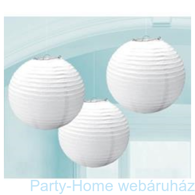 Fehér Színű Parti Gömb Lampion