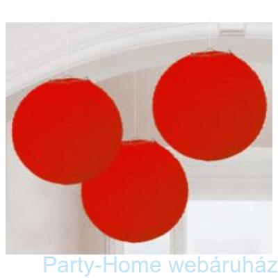 Piros Színű Parti Gömb Lampion