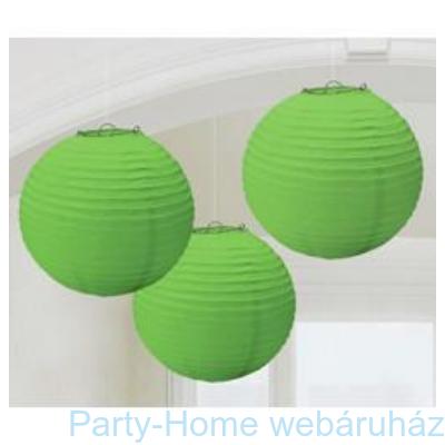 Zöld Színű Parti Gömb Lampion