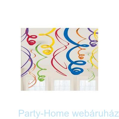 Rainbow Színes Spirális Függő Dekoráció