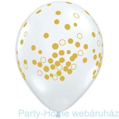 11 inch-es Confetti Dots Diamond Clear Lufi 1 db