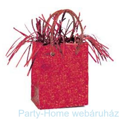 Piros Prismatic Mini Ajándéktasak Léggömbsúly