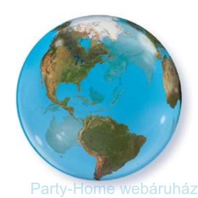 Földgömb Mintás Planet Earth Bubble Lufi