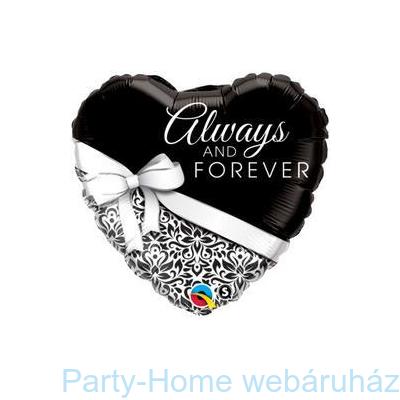 Always and Forever-esküvői Szív Fólia Lufi