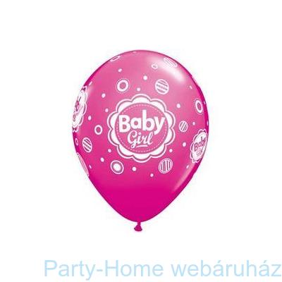 Baby Girl Dots Pöttyös Pink Lufi Babaszületésre