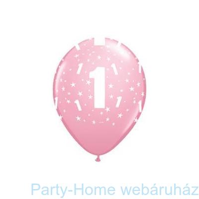 1-es printelt Stars Pink Első Szülinapi Számos Lufi
