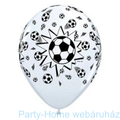 Soccer Balls White Focilabdás Lufi
