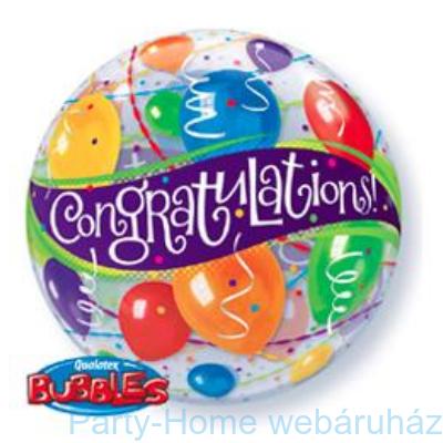 Congratulations Balloons Gratulálunk Bubble Lufi