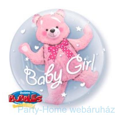 Baby Pink Bear Double Bubble Lufi Babaszületésre