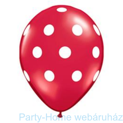 Big Polka Dots Red/White Pöttyös Lufi
