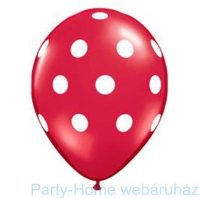 Big Polka Dots Red/White Pöttyös Lufi