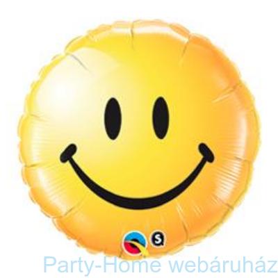 Sárga Mosolygós Arc Smile Face Yellow Fólia Lufi