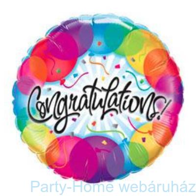 Gratulálunk Congratulations Balloons Fólia Lufi