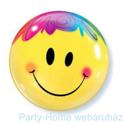 Mosolygó Arc Bright Smile Face Bubbles Lufi
