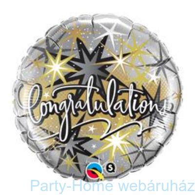 Gratulálunk Congratulations Elegant Fólia Lufi